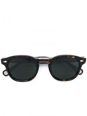 Солнцезащитные очки Lemtosh Moscot. Цвет: коричневый
