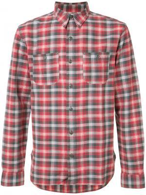 Рубашка в клетку Rrl. Цвет: красный