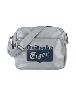 Сумка через плечо ONITSUKA TIGER. Цвет: серый