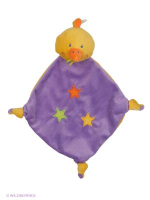 Развивающая игрушка Платок Утенок Amico. Цвет: сиреневый, оранжевый, желтый