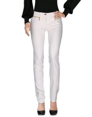 Повседневные брюки CRISTINAEFFE. Цвет: слоновая кость
