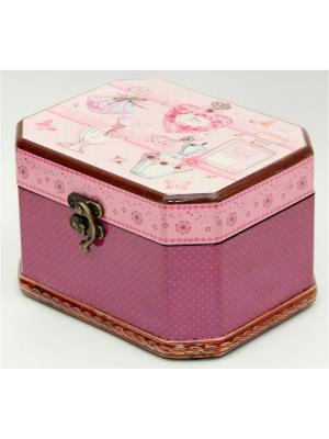 Шкатулка декоративная  Парфюм из МДФ, 17*13,5*10,3см. Magic Home. Цвет: розовый