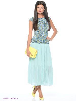 Блузка KEY FASHION. Цвет: голубой, белый