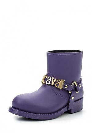 Резиновые полусапоги Just Cavalli. Цвет: фиолетовый