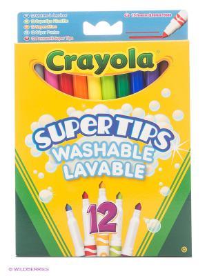Набор тонких фломастеров Супертипс ярких цветов Crayola. Цвет: желтый