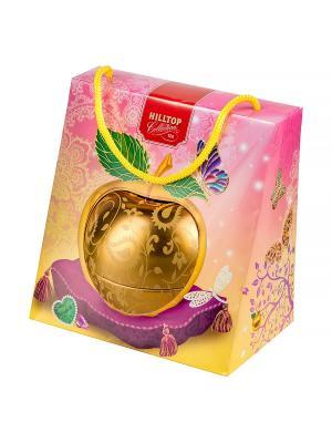 Чай Hilltop Королевское золото 50 гр., Золотое яблоко в весеннем футляре. Цвет: черный