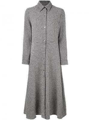 Расклешенное платье в ломаную клетку Ultràchic. Цвет: чёрный