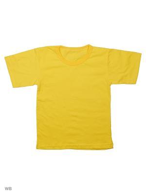 Футболка Babycollection. Цвет: желтый