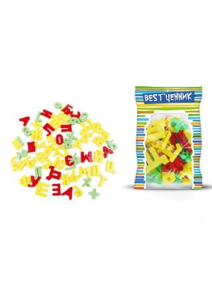 Набор букв и знаков магнитных, рус.яз., 63 штуки S-S. Цвет: желтый, зеленый, красный