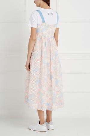 Платье с принтом Bahamas Paul & Joe Sister. Цвет: розовый, голубой