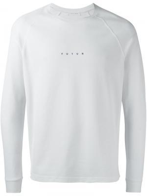 Толстовка с логотипом Futur. Цвет: белый