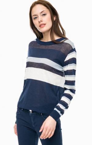 Синий джемпер в полоску с длинными рукавами Kocca. Цвет: синий