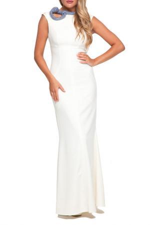 Платье Gloss. Цвет: молочный, золотисто-голубой