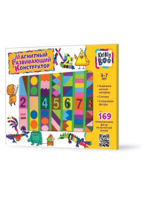Магнитный развивающий конструктор, 169 деталей Kribly Boo. Цвет: желтый, зеленый, коричневый, голубой, фиолетовый, розовый