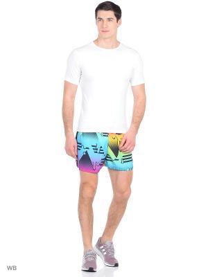 Пляжные шорты Adidas. Цвет: сиреневый
