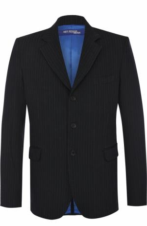 Однобортный приталенный пиджак Junya Watanabe. Цвет: серый