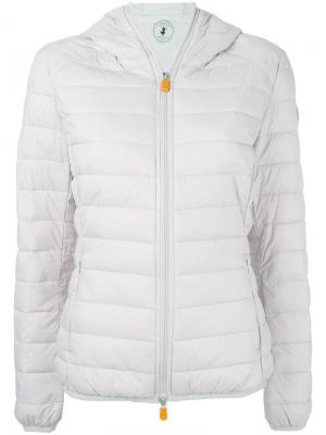 Hooded padded jacket Save The Duck. Цвет: телесный