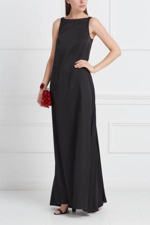 Платье в пол VIKTORIA IRBAIEVA. Цвет: черный