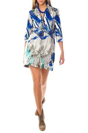 Платье рубашка Sarafan. Цвет: ультрамарин