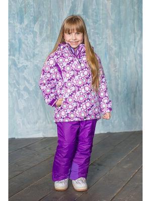 Комплект: куртка, полукомбинезон Sweet Berry. Цвет: сиреневый