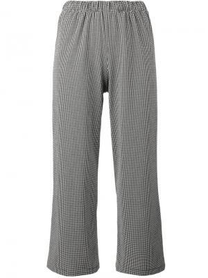 Укороченные брюки в ломаную клетку Prism. Цвет: чёрный