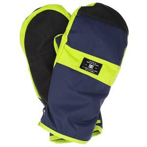 Варежки DC Franchise Mitt Insignia Blue Shoes. Цвет: синий,желтый