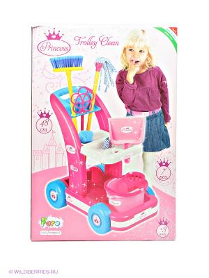 Набор для уборки FARO. Цвет: розовый, голубой