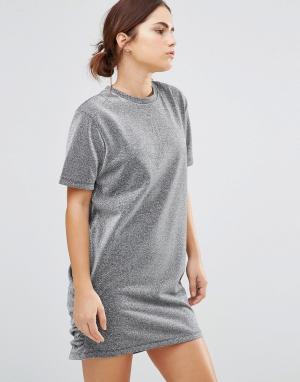 Uncivilised Платье-футболка Hutton. Цвет: серый