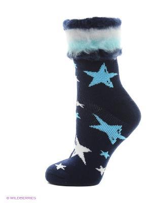Носки для дома HOSIERY. Цвет: темно-синий
