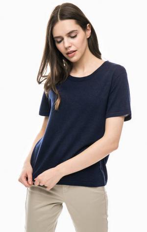 Синий джемпер с короткими рукавами Gant. Цвет: синий
