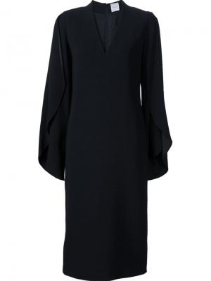 Платье Spiral Sleeve Dion Lee. Цвет: чёрный