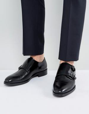 ALDO Черные кожаные монки. Цвет: черный