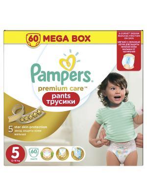 Трусики Premium Care Pants 12-18кг, размер 5, 60 шт. Pampers. Цвет: золотистый