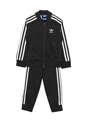 Костюм спортивный adidas Originals. Цвет: черный