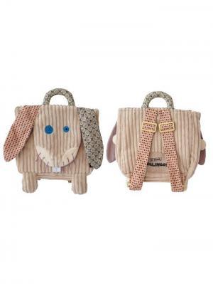 Игрушка Deglingos Кролик Lapinos  - рюкзачок. Цвет: бежевый
