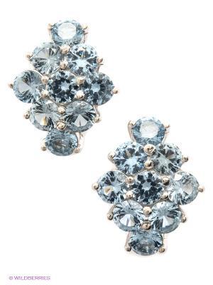 Серьги Lovely Jewelry. Цвет: светло-голубой