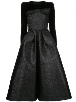 Платье миди Garret с длинными рукавами Alex Perry. Цвет: чёрный