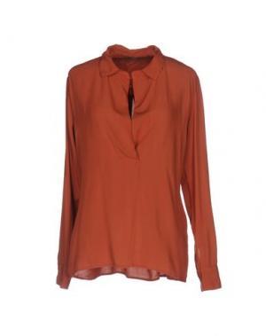 Блузка DIXIE. Цвет: ржаво-коричневый