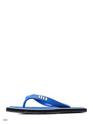 Шлепанцы Effa. Цвет: синий