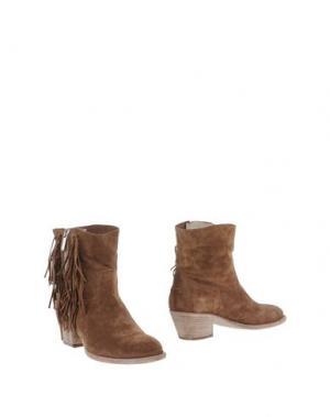 Полусапоги и высокие ботинки TWO 6 SHOES. Цвет: хаки