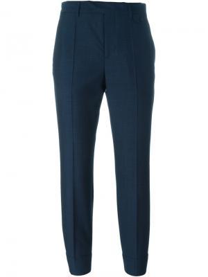 Укороченные брюки Maison Margiela. Цвет: синий