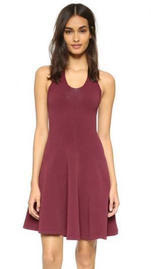 Трикотажное платье без рукавов DSQUARED2. Цвет: бордовый