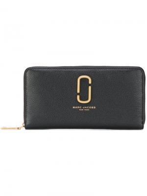 Удлиненный кошелек Marc Jacobs. Цвет: чёрный