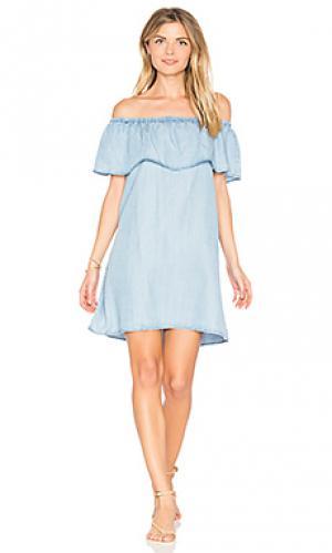 Мини платье maci BB Dakota. Цвет: синий