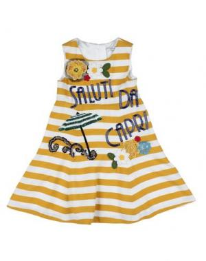 Платье DOLCE & GABBANA. Цвет: верблюжий