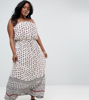 Diya Платье макси бандо с принтом. Цвет: мульти