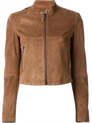 Замшевая куртка Theory. Цвет: телесный