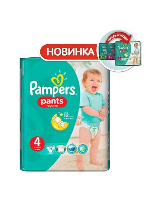 Трусики Pants 9-14кг, размер 4, 16 шт. Pampers. Цвет: зеленый
