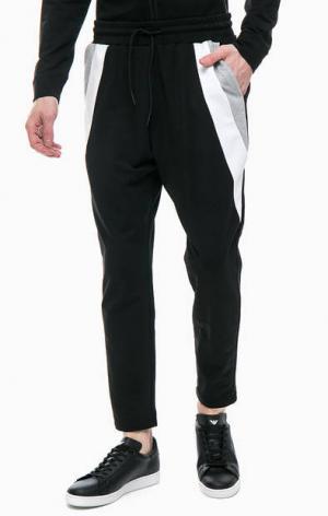 Зауженные черные брюки на кулиске Antony Morato. Цвет: черный