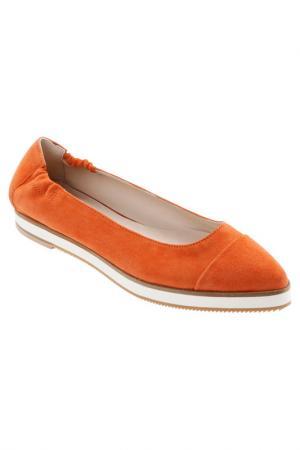 Балетки Madeleine. Цвет: orange